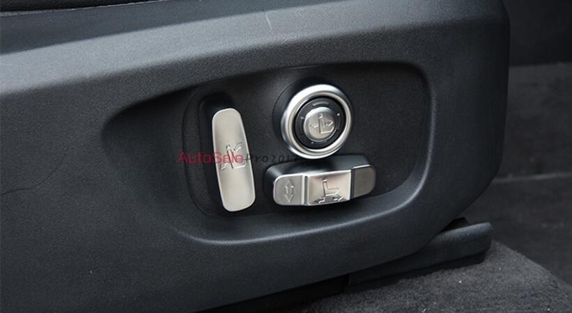 For Jaguar F-Pace f pace X761 2016 2017 Matte ABS Chrome Interior Car Seat Adjustment Button Cover Trim 8pcs