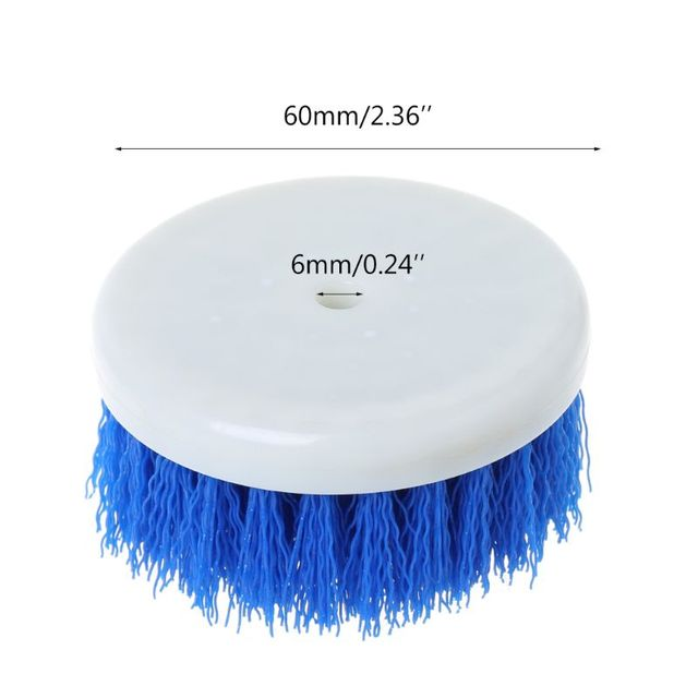 60mm Drill Powered Scrub Drill Brush Head For Cleaning Ceramic Shower Tub Carpet F5H6 2