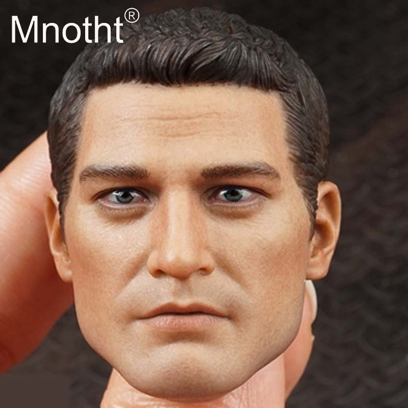 Mnotht San Diego Agents Head Sculpt 1/6 Scale Male Soldier Head Carving Western Police Model for 12inch Action Figure Toys M3n 1 6 scale wolverine 3 logan hugh jackman head sculpt for 12 figure hot toys male head carving soldier head model toys