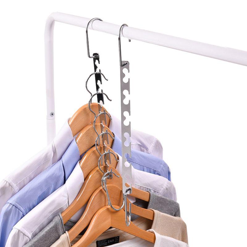 Image 4 - Windproof Clothes Hanger Metal Magic Hanging Chain Closet Space Saving Organizer Hook-in Hangers & Racks from Home & Garden