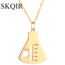 Color Medical Sign Container Pendant Necklaces