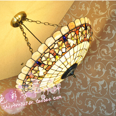 30CM-60CM European Garden bedroom living room den shell Tiffany lighting lamps hanging 23 Camellia beads моторное масло motul garden 4t 10w 30 2 л