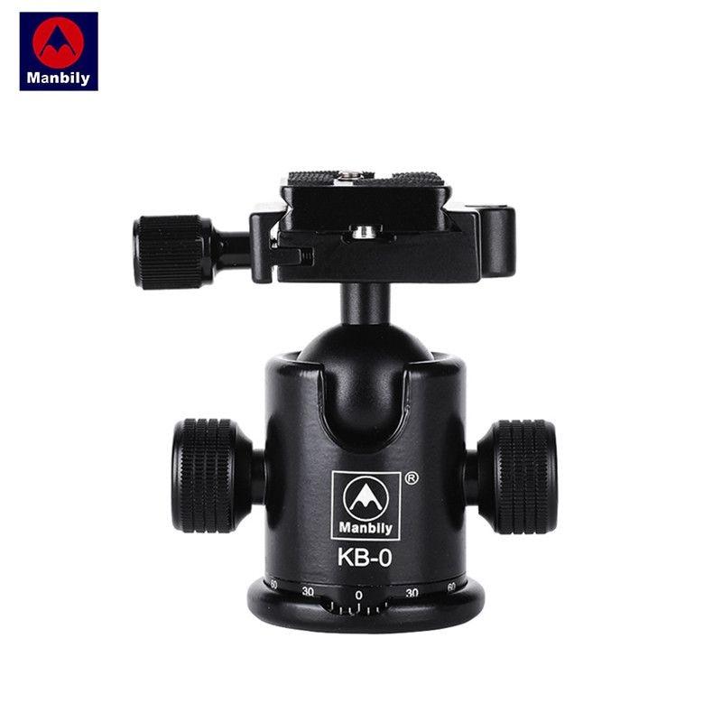 manbily Kb-0 Aluminum Alloy Mount Screw Mini Tripod Monopod Ball Head With 2 Built-in Spirit Level Load 15kg For DSLR Camera кеды le follie кеды