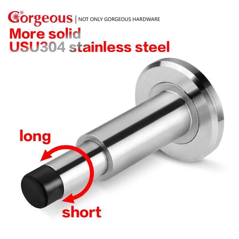 Gorgeous 304 stainless steel door stopper silent rubber door stop safe door holder with door stoppers decorative hardware цена 2017