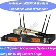 Ручной беспроводной диджей караоке микрофон SKM9000 skm 9000 KTV сценическая производительность беспроводной 2 Ручной вокальный микрофон системы