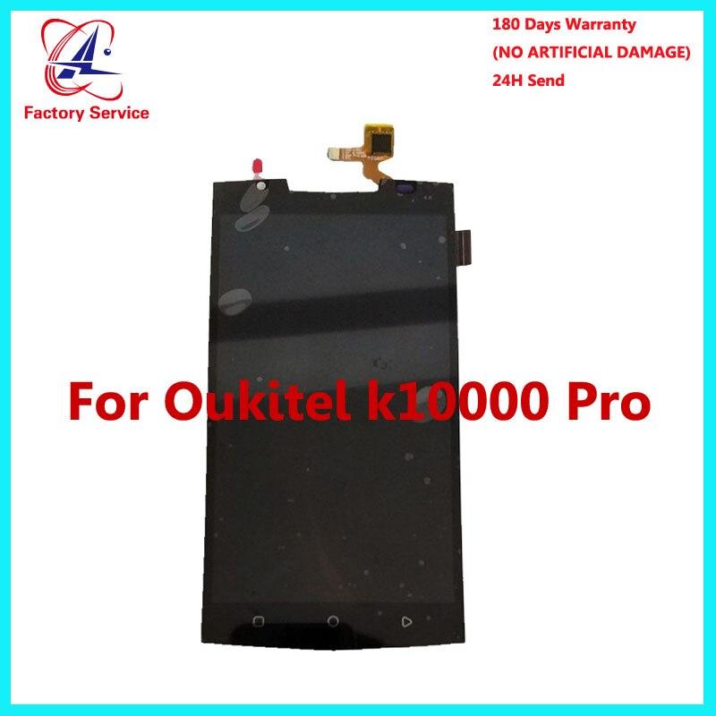 For 100 Original Oukitel K10000 Pro LCD Display Touch Screen Panel font b Digital b font
