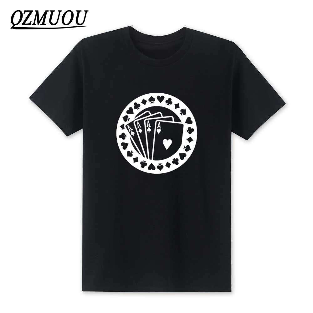 New 2020 Fashion Poker Aces <font><b>T</b></font> <font><b>Shirt</b></font> Hip Hop Men <font><b>Skrillex</b></font> Short Sleeve <font><b>T</b></font> <font><b>Shirt</b></font> Cotton O-Neck Men Top Tee High Quality Size XS-XXL image