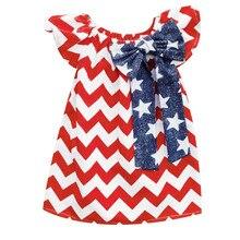 4th Of July Star Stripe Dress Casual Princess Dresses