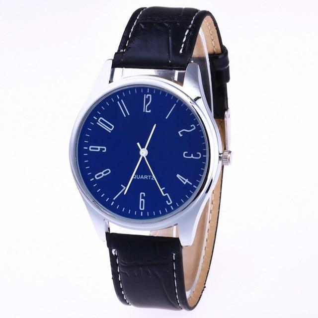 Casual Leather Waterproof Quartz Wristwatches Man Clock 2
