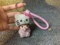 Hello kitty кристалл брелок брелок сумка очарование сумки очарование шику горный хрусталь monchhichi monchichi мешок кулон кожаный ремешок