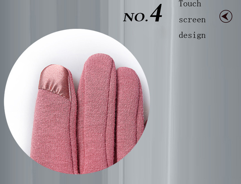 NIUPOZ Fashionable and Elegant Women Touch Screen Gloves for Winter made of Non Inverted Velvet to Keep Hands Warm 11