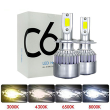 Muxall H4 H1 H7 H11 H3 светодиодный фонарь для автомобильных фар мотоцикла 8000лм 72 Вт Hi/Lo конверсионный комплект 3000 К 6000 К фара для мотоцикла