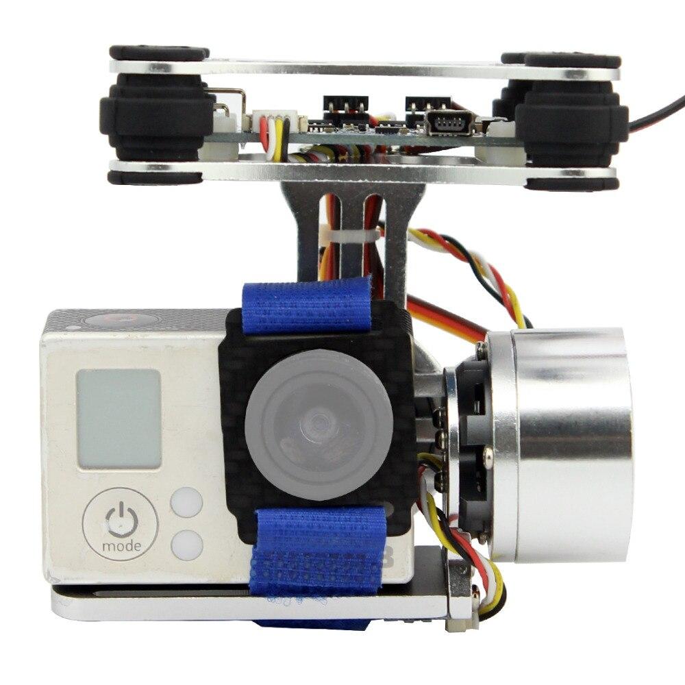 Prise de contrôleur de montage de caméra à cardan sans balai à 2 axes en aluminium pour Gopro 3 3 + caméra pour hélicoptère Drone DJI Phantom Trex 500/550 - 2