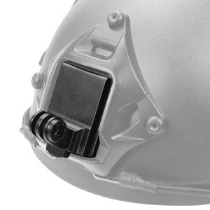 Image 3 - Alüminyum kask sabit montaj adaptörü ile uzun vida anahtarı kahraman 7 6 3 + 4 5 oturumu YI Sjcam spor kamera tabanı montaj tutucu