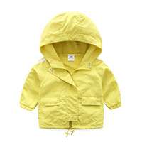 Baby boy casual coat spring autumn children casual hooded Outerwear kids sports jacket 2 10T