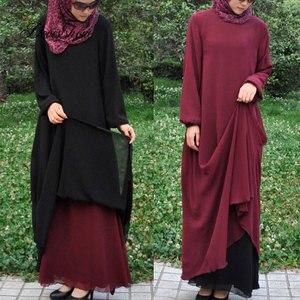 Двустороннее мусульманское летнее платье, абайя, мусульманская одежда, Женская джилбаба, джеллаба, халат, мусалмане, турецкое кимоно, кафта...
