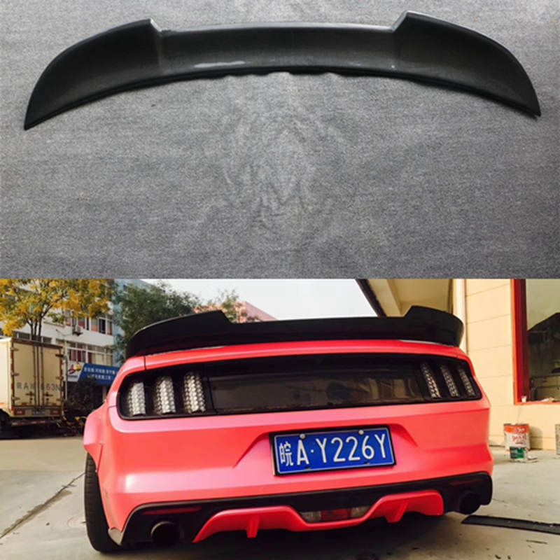 Mustang Carbon Fiber Rear Trunk Spoiler Wing for Ford Mustang 2015 2016 2017 Auto Racing Car