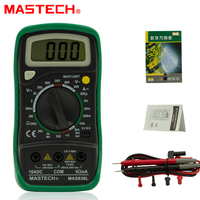 1pcs Mastech MAS830L Mini Handheld LCD Display Multimeter DC Current Tester Backlight Data Hold Continuity Diode