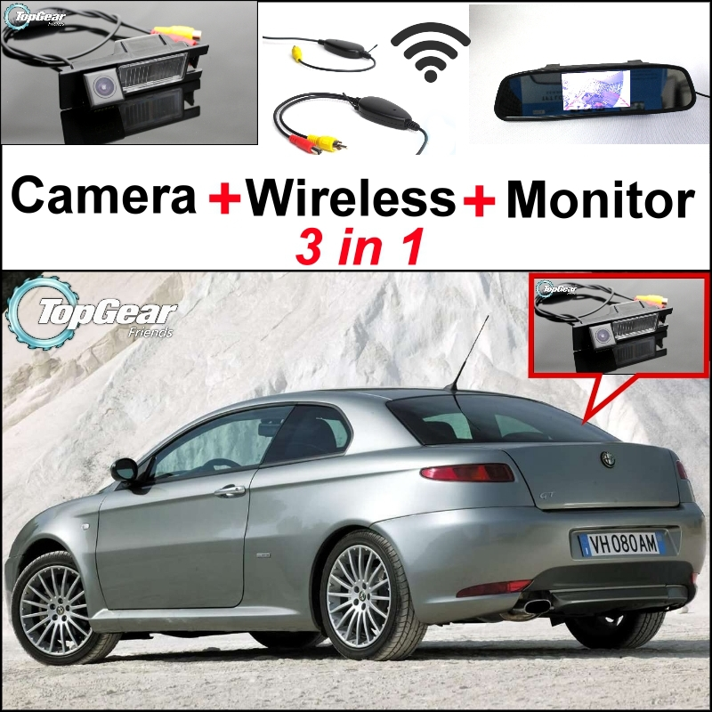 3 in1 Special WiFi Rear View Camera + Wireless Receiver + Mirror Monitor EASY DIY Parking Backup System For Alfa Romeo AR GT special rear view wifi camera wireless receiver mirror monitor easy diy back up 3 in1 parking system for nissan terrano