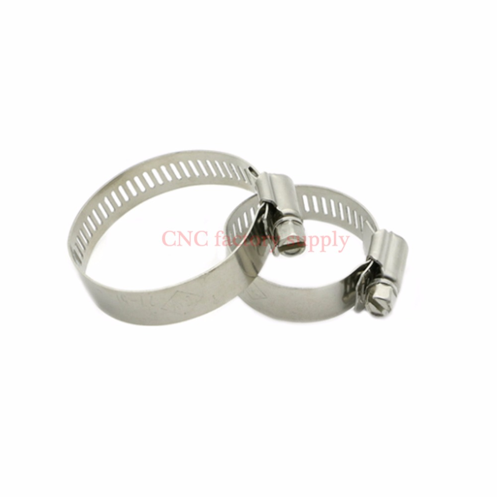 Hot sale parts 14-27mm/27-51mm/18-32mm 304 Stainless Steel Hose Screw Worm Drive Hose Clamp Hoop Pipe Clamp Clip with handle
