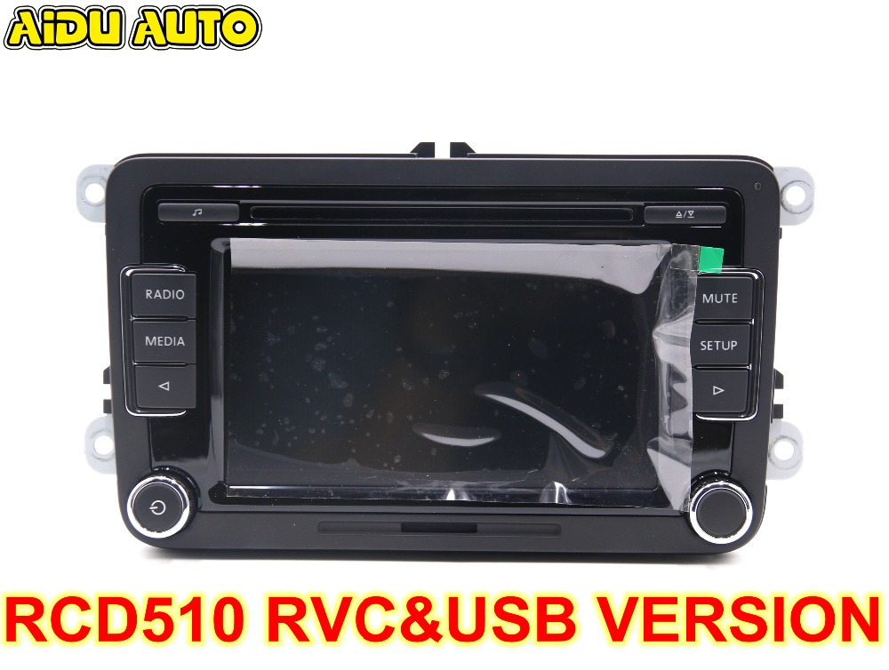 Car Radio Stereo USB AUX RVC CAMERA VERSION RCD510 With Code For VW Golf 5 6