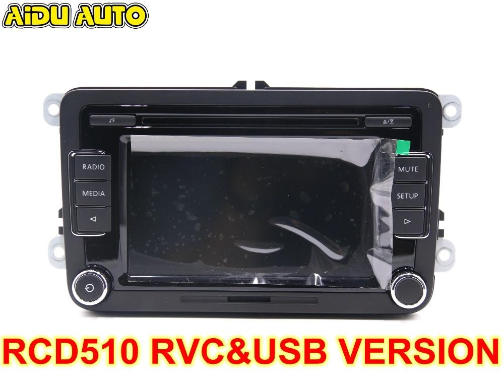 Car Radio Stereo USB AUX RVC CAMERA VERSION RCD510 With Code For VW Golf 5 6 Jetta MK5 MK6 Passat B6 CC B7 Polo