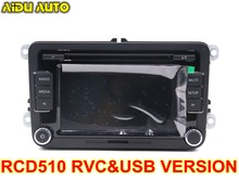 Car Radio Stereo USB AUX RVC CAMERA VERSION RCD510 With Code For VW Golf 5 6 Jetta MK5 MK6 Passat B6 CC B7 Polo vw original radio stereo rcd510 camera verion radio for vw golf 5 6 jetta cc tiguan passat polo with code