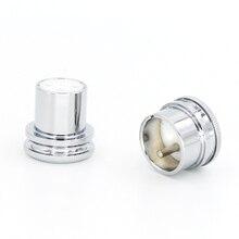 Noise Stopper Cromo Cobre Banhado Plugue XLR XLR Plug Caps 1 Par masculino + feminino caps protetor de alta fidelidade de áudio xlr plugue