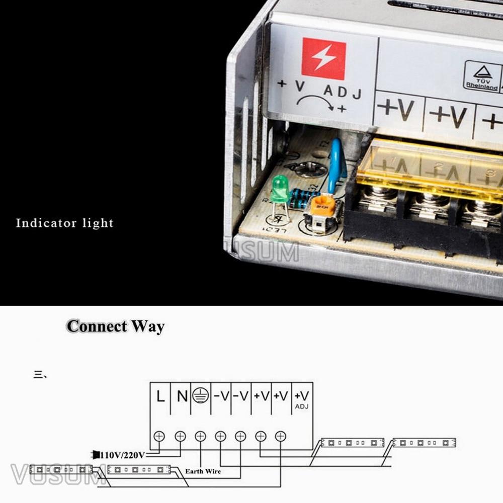 hight resolution of 24v led transformer power supply switch adapter for led strip lights ac 110v 220v to dc 2a 5a 10a 15a 20a 30a 40a 60a driver in lighting transformers from