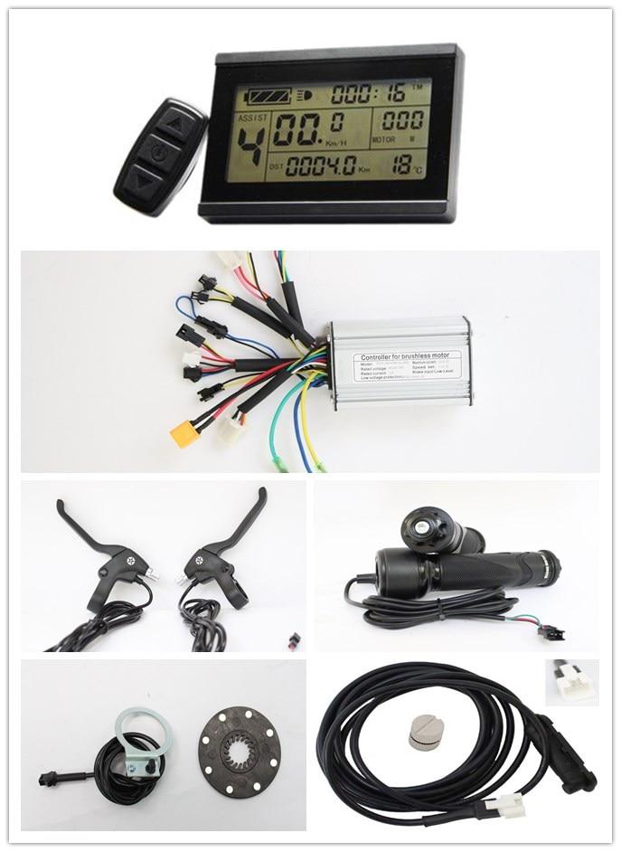 Ifunmobi vélo électrique 36 V 48 V 250 W 350 W contrôleur Ebike avec affichage LCD/PAS/accélérateur/frein/kits de capteurs de vitesse