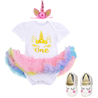 Girl Clothes for Birthday Cake Smash Outfit Cute Baby 3pc Set Flower Unicorn clothes for Photo Shoot fashion baby clothes 6 18M