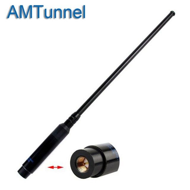 Dual Band אנטנה טלסקופית VHF UHF אנטנת 144/430 MHz SMA-M עבור YAESU VX-1R VX-2R VX-3R VX-5R VX-6R רדיו