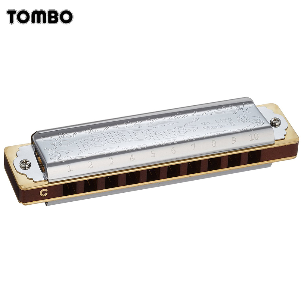 Tombo Folk Blues Mark II 1210 Harmonica 10 Holes Diatonic Blues Harp Brass Reeds Mouth Organ Key C Maplewood Musical Instruments russian new for thinkpad t430 t430i t430s t530 t530i w530 backlit keyboard ru