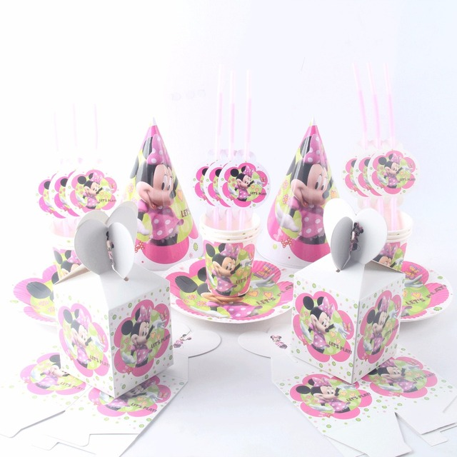 42pcs/lot Cartoon Minnie Mouse Kids Birthday Party Supplies Paper Cup Plate Hat Straw Candy  sc 1 st  AliExpress.com & 42pcs/lot Cartoon Minnie Mouse Kids Birthday Party Supplies Paper ...