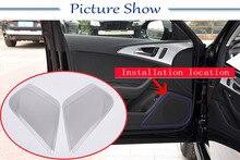 2 pezzi In Lega di Alluminio Auto Lato Anteriore Porta Audio Altoparlante Copertura Trim Per Audi A6 Accessori Auto