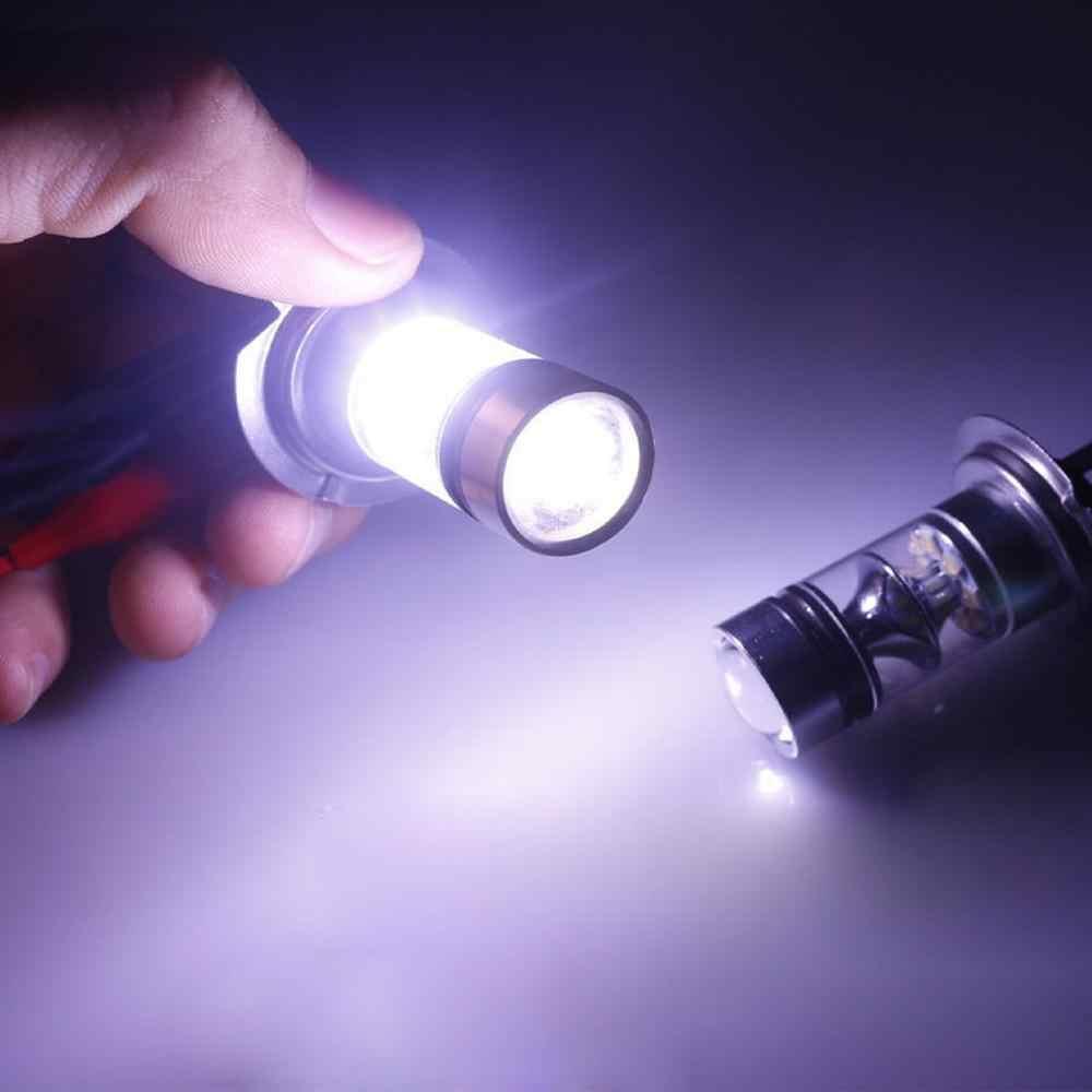 2 шт. H7 100 Вт светодиодный автомобильный противотуманный хвост автомобильная лампа высокой мощности авто Замена светоизлучающих диодных фар 12-24 В