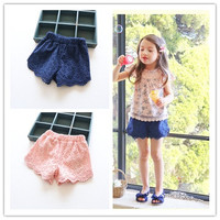 Princess Lace Baby Girls Shorts Summer Spring Children Shorts Kids Shorts For Girls Clothes Toddler Girl