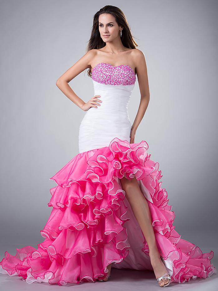 Online Get Cheap Alto Bajo Vestido De Fiesta Blanco -Aliexpress.com ...