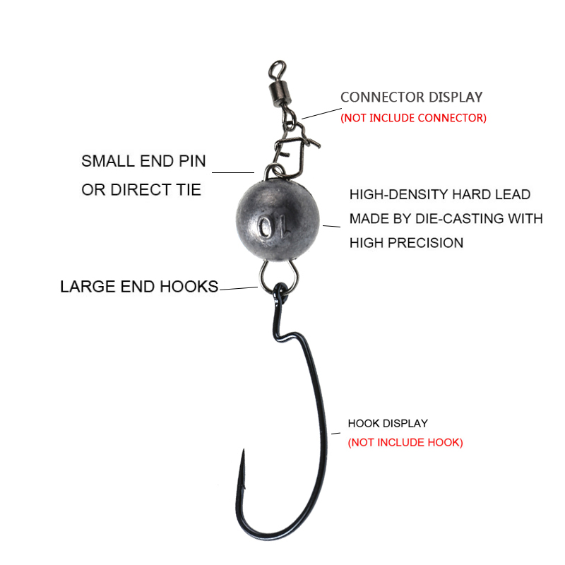 Image 5 - 4g 6g 8g To 18g Crank Hook Weight Lead Quick Release Connector Pechelead Sinker Drop Shot Bullet Fishing Lure Accessories-in Fishing Tools from Sports & Entertainment