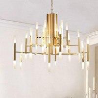 Пост современный творчески фолов свет Железный Акрил G4 подвесной светильник для Гостиная Спальня Обеденная 24/36/ 60 головок 1242