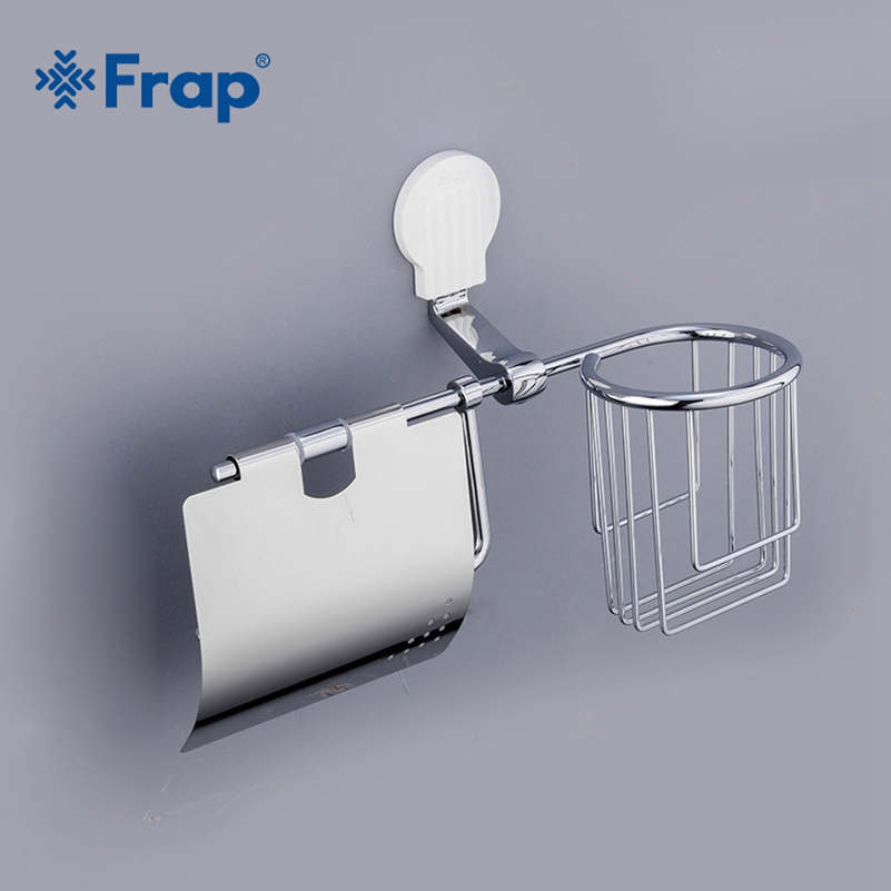 Frap Paper Holders Cover Roll Toilet Paper Holders Zinc-Alloy Roll Paper Hanger Cover Bathroom Accessories Wall Mount F3303-1