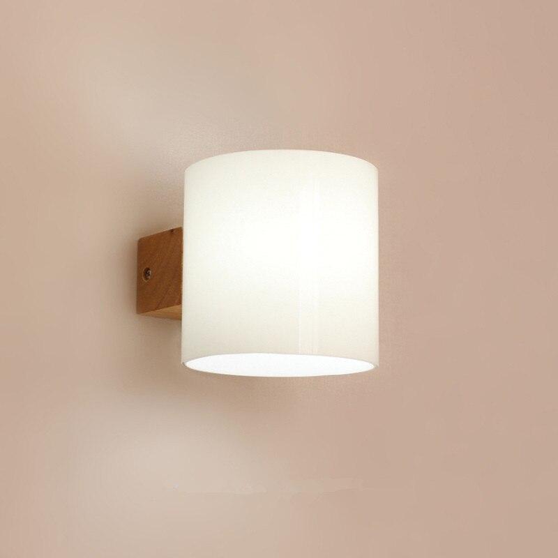 Japons Luz Pared del Dormitorio moderno Lmpara de Pared de Madera