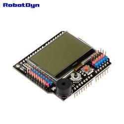 Графический ЖК-дисплей 128x64 + зуммер щит совместимый для Arduino Uno, Mega 2560, Леонардо