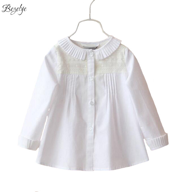 ccaf1fdd2 € 19.64 |Blusas blancas para niñas Tops y blusas para niños camisas para  niñas blusa blanca camisa de manga larga blusas de encaje para niña en ...