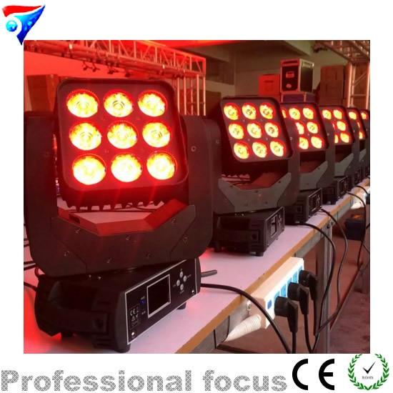 LED Matrix Beam light Matrix 3 * 3 9x10w Led Moving Head Disco light RGBW Mini Beam Moving Head Led Matrix DMX Light 9 Eyes 10W