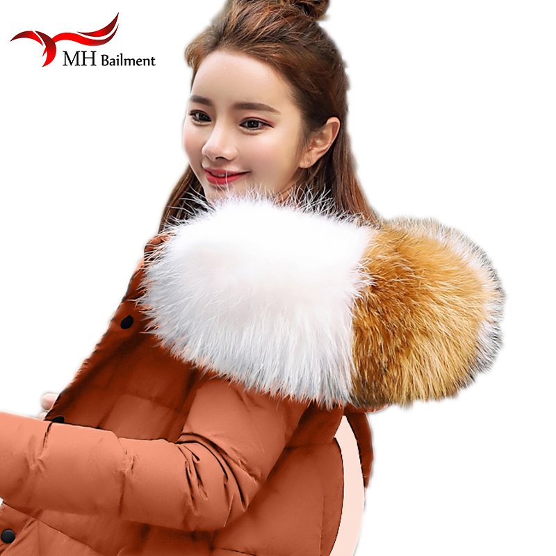 100% Real Fur Neck Cap Collar Winter Warm Raccoon Natural Fur Scarves Women Children Coat Jacke Luxury