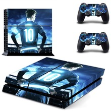 Football Star Lionel Messi PS4 Skin Sticker Decal Vinyl for Sony Playstation 4 Console and 2 Controllers
