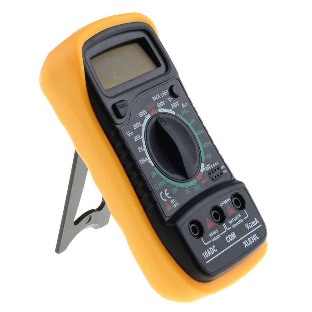 Portable Digital Multimeter Backlight Ac Dc Ammeter Voltmeter Lcd Ohm Circuit Checker Tester Meter Xl830l Handheld Multimetro Gallery Image