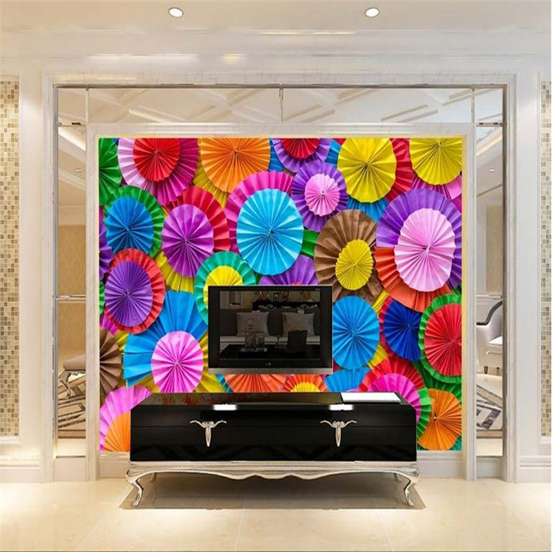 3d HD modern custom photo wallpaper living room bedroom TV background wall mural colorful fold umbrella fresh vintage wallpaper book knowledge power channel creative 3d large mural wallpaper 3d bedroom living room tv backdrop painting wallpaper