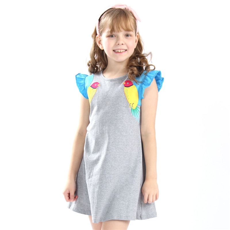 Little Childrens sleeveless dresses for girls 3-12 years summer cotton applique quality princess jersey kids clothes girl dressLittle Childrens sleeveless dresses for girls 3-12 years summer cotton applique quality princess jersey kids clothes girl dress